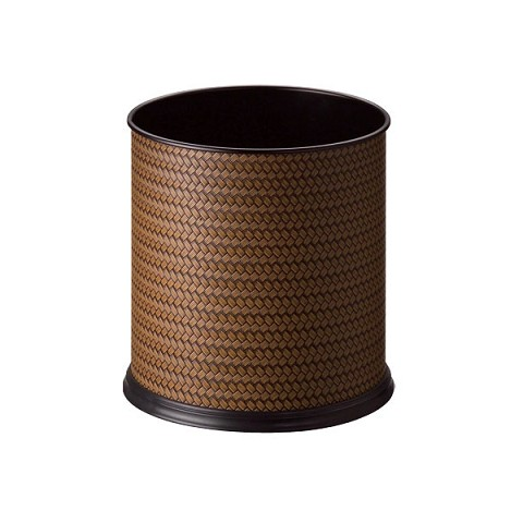 蓆紋色皮圓形單層桶